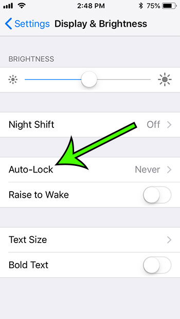 where is auto lock on iphone 5
