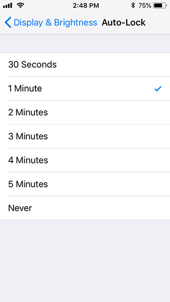 how to change auto lock on iphone 5