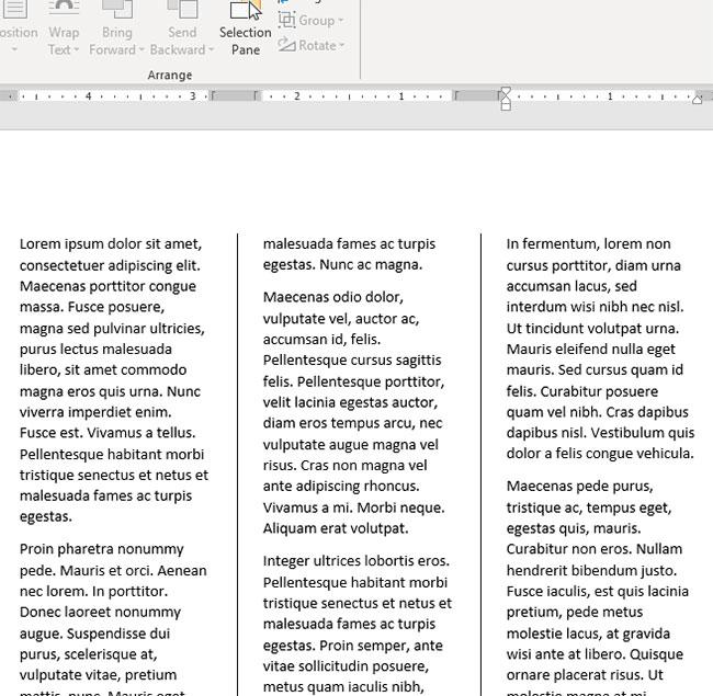 how to put lines between columns in word