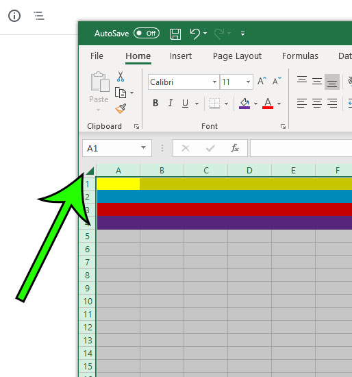 select all cells in excel