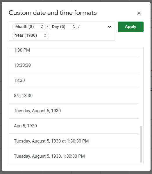 how to change the date format in Google Sheets