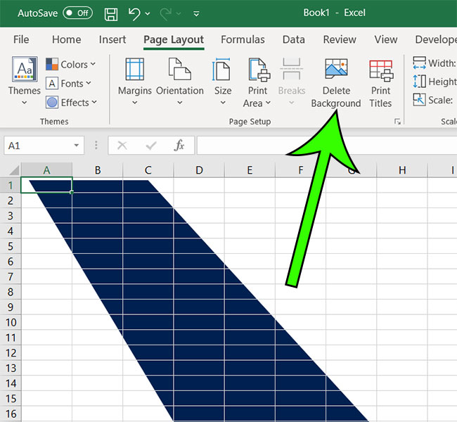 how to remove a watermark in Excel