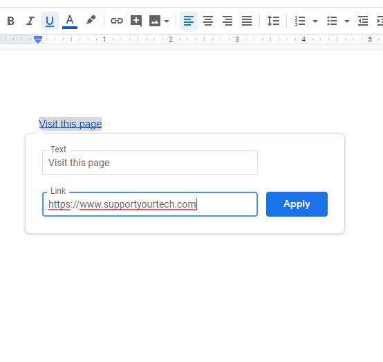 how to edit a hyperlink in Google Docs