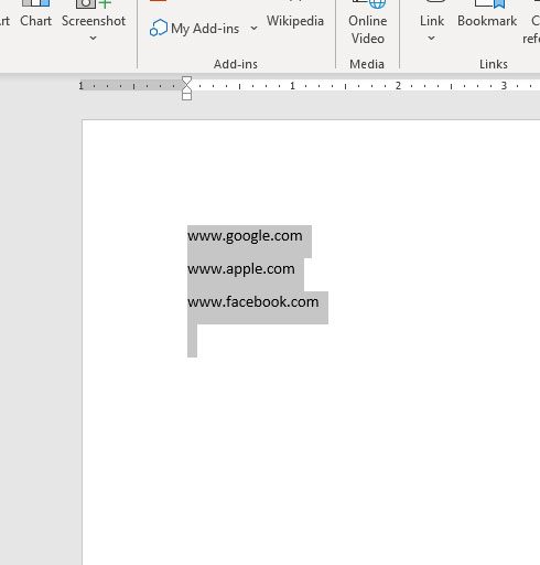 how to remove all hyperlinks in Microsoft Word for Office 365