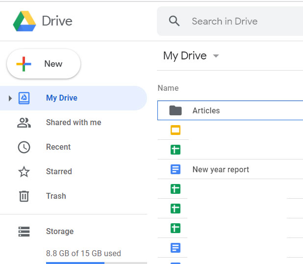 sign into Google Drive and open your document