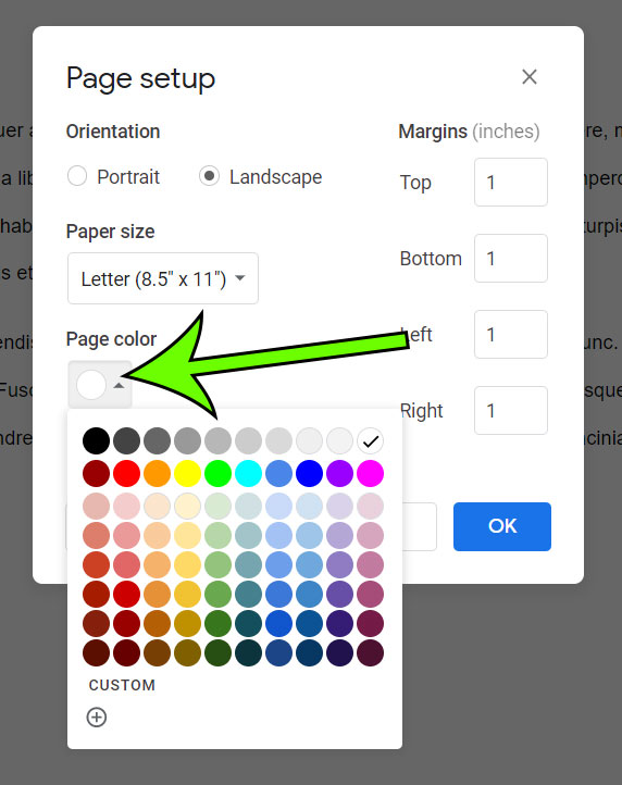 How to Change Background Color in Google Docs - Support ...