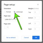 how to make Google Docs horizontal page