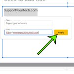 how to insert a hyperlink in Google Slides