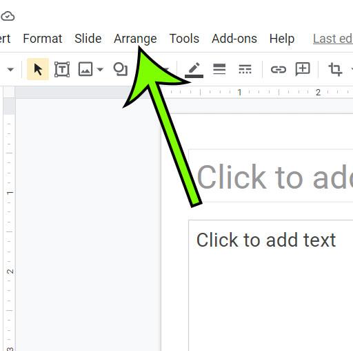 click the Arrange tab