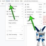 how to exit superscript in Google Docs