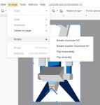 how to rotate a picture in Google Slides