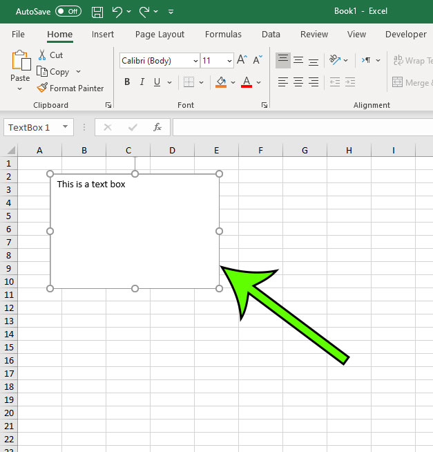 how to delete a text box in Microsoft Excel for Office 365