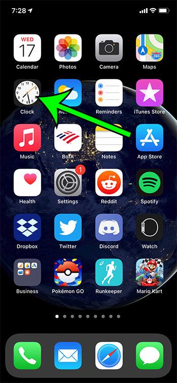 open the Clock app