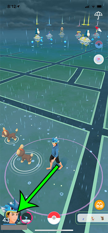 tap your trainer icon