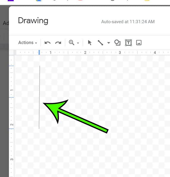 drawing a vertical line in Google Docs