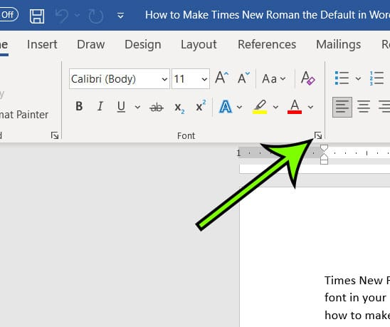 click the small Font button