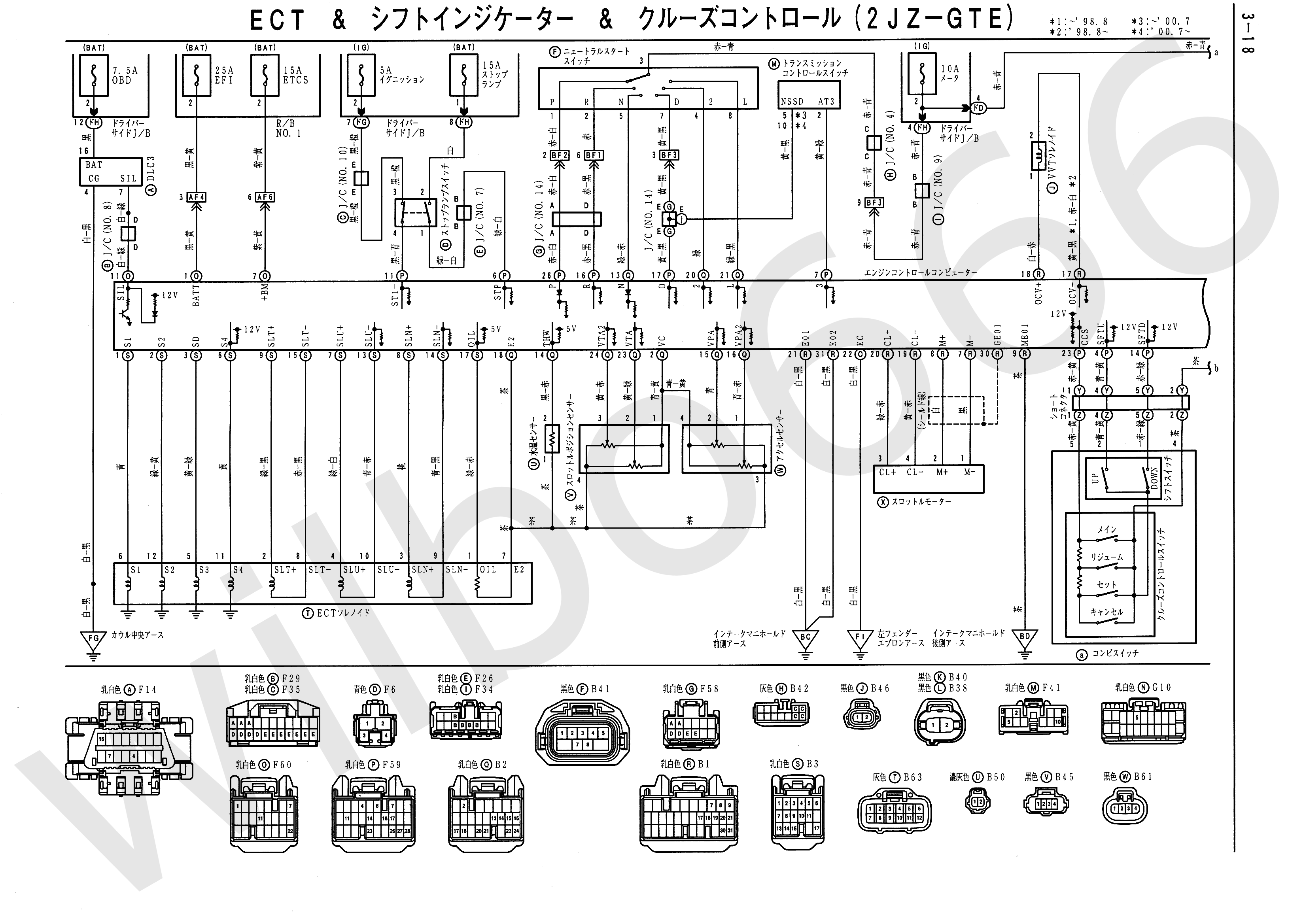 1jzgte vvti alternator wiring diagram gibson diagrams supra club ru gt Распиновка aristo jzs161