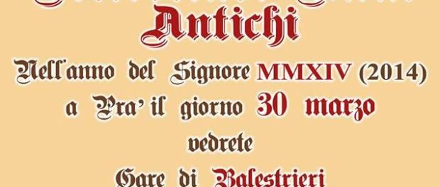 Domenica 30 Marzo: Pra' Medioevale