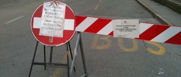 Via Martiri del Turchino riaperta al traffico