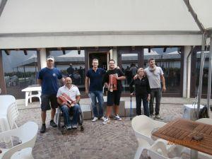 Alessio e Jagovar i giovani atleti, Davide e Michele i volontari istruttori.