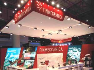 Stand Finmeccanica all'esibizione IDEX di Dubai