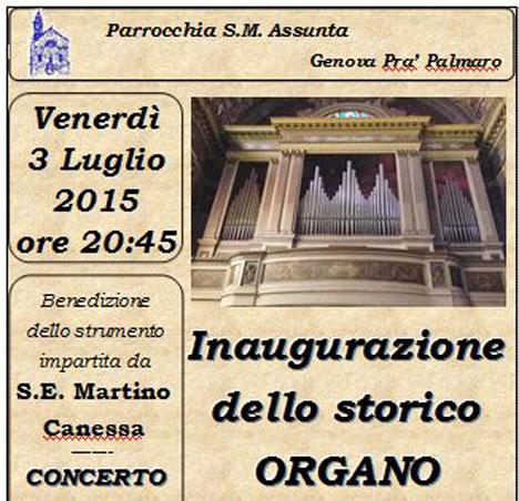 Inaugurazione Organo