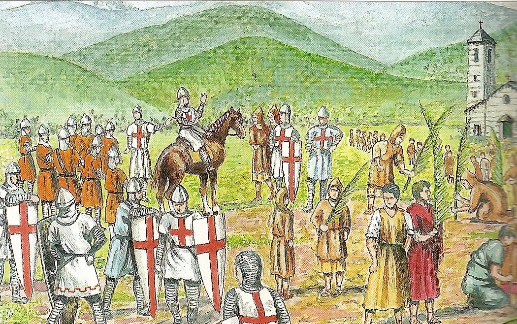 2 – Bartolomeo Decotto a Pra' di ritorno dalla Terrasanta – Bozzetto di Andrea Bruzzone