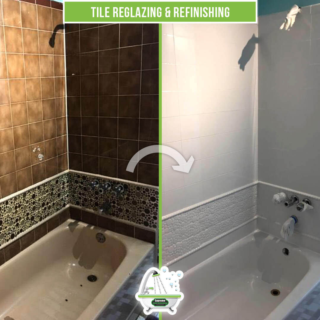 Tile Reglazing  Refinishing  Supreme Bath Refinishing