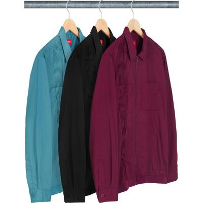 Pin Tuck Zip Up Shirt