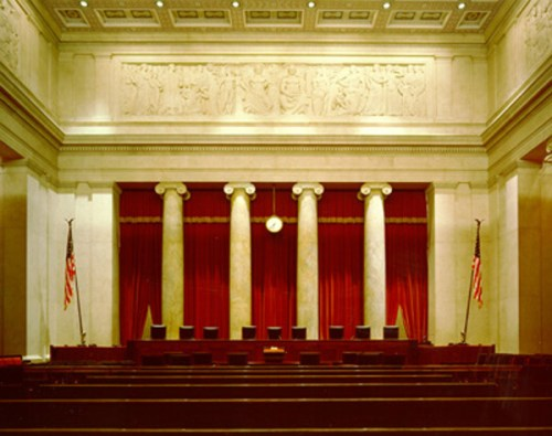 Courtroom of the Supreme Court Building
