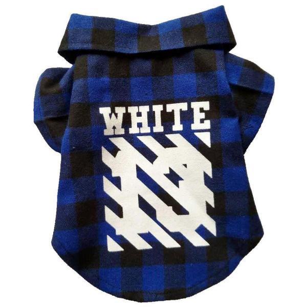 Woof-White Flannel Dog Shirt