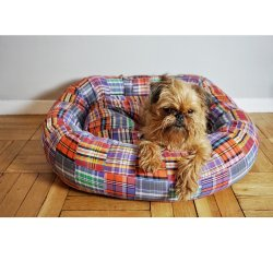 Madras Dog Bed
