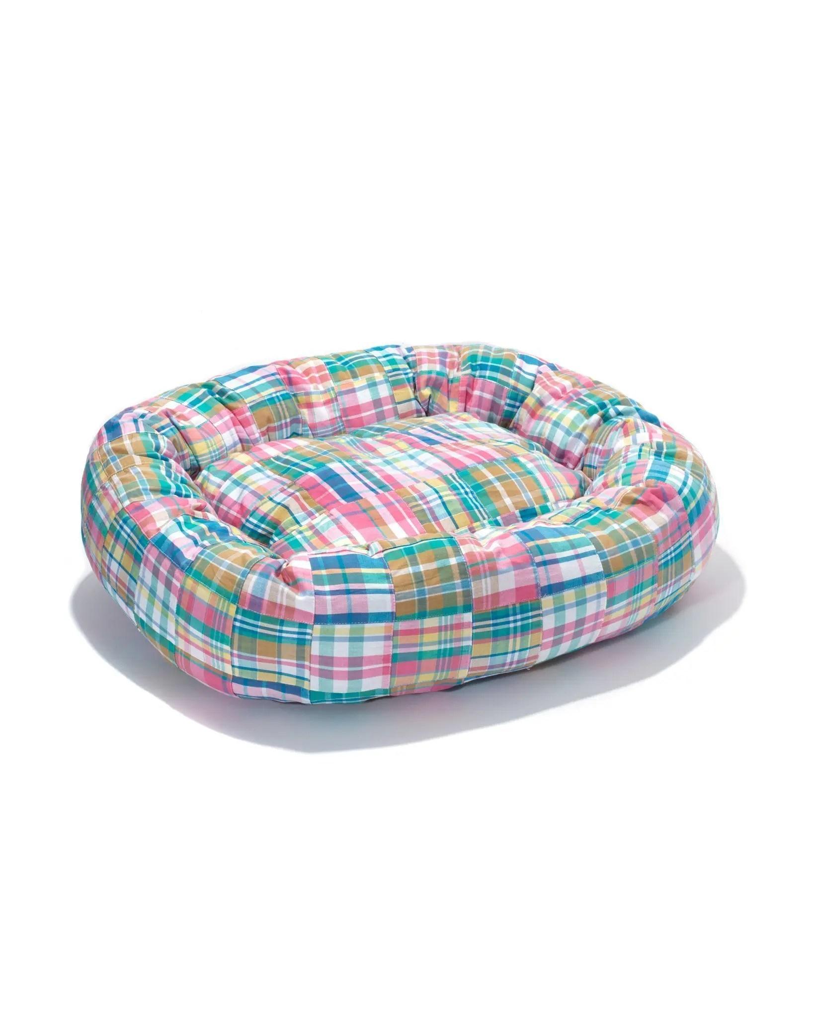 Madras Dog Bed