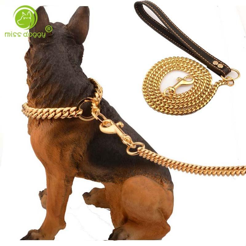 Classic Cuban Link Dog Leash