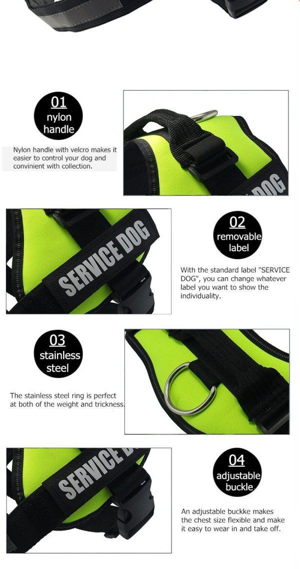 Reflective Emotional Support No-Pull Dog Harness & Leash Set