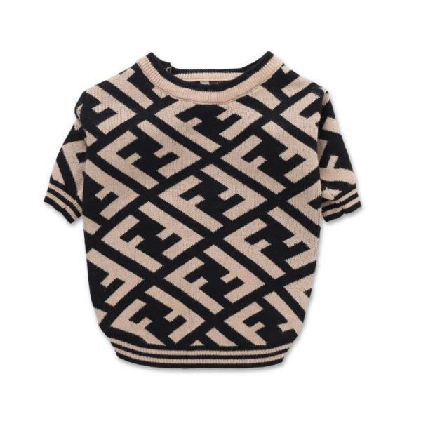 Fur Baby Diagonal Print Dog Sweater