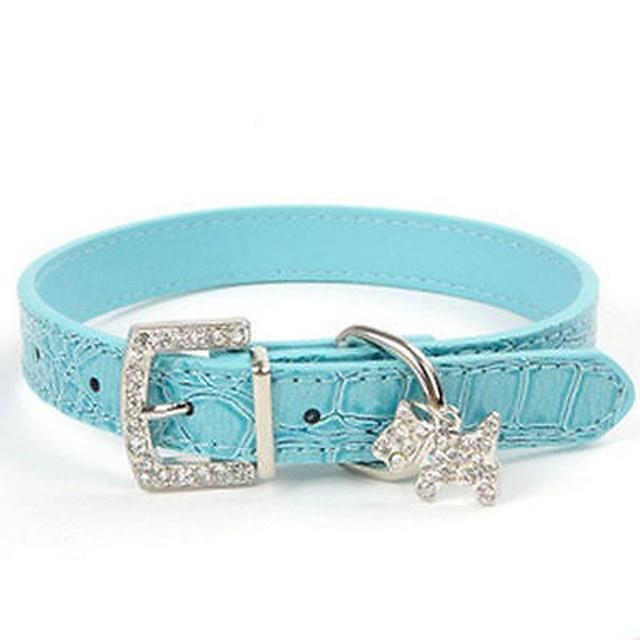 Astoria Crystal Pendant Dog Collar