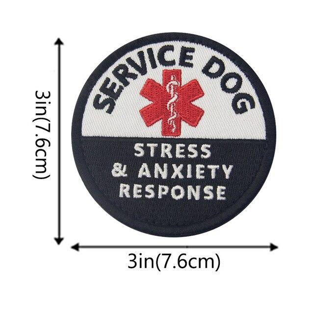 3D Embroidered Service Dog Patches