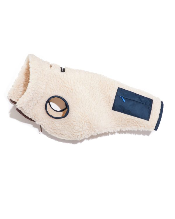 Monkey Fleece Dog Vest (Natural)