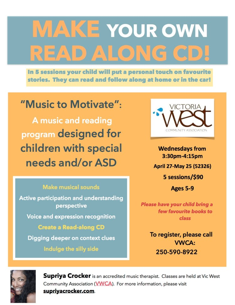Music therapy program for children with ASD or autism