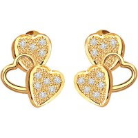 Heart Shaped Earrings Gold Online Diamond Emerald Heart