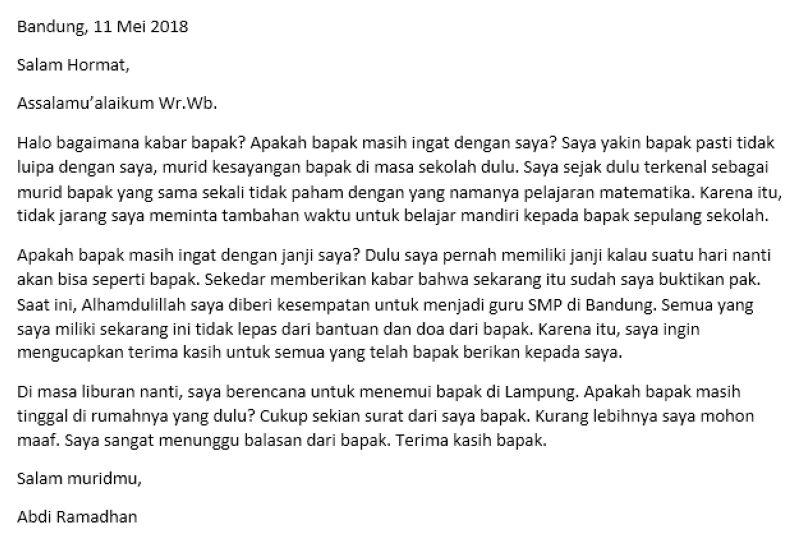 11. Contoh Surat Pribadi