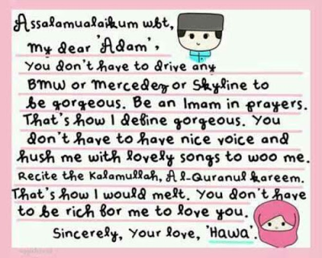 2. Contoh Surat Cinta Bahasa Inggris Dan Artinya