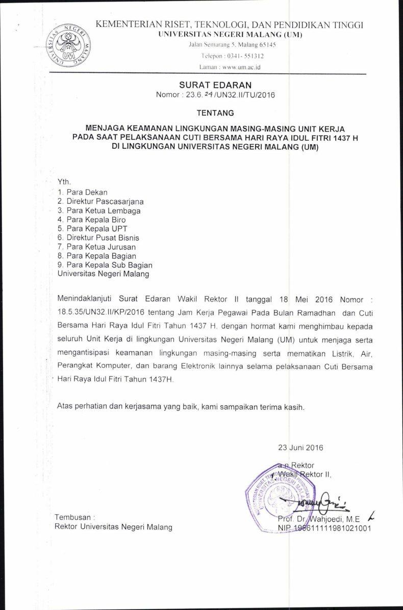 3. Contoh Surat Himbauan Keamanan