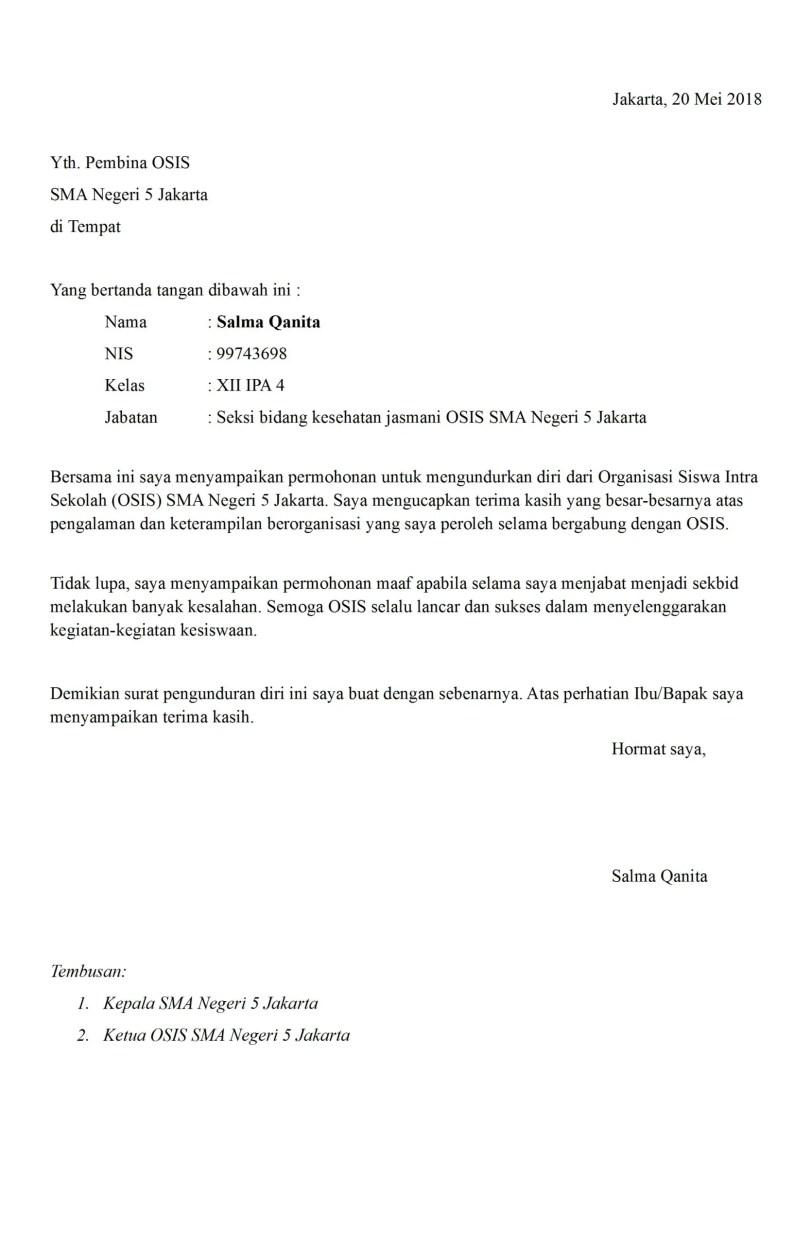 4. Contoh Surat Resign Doc