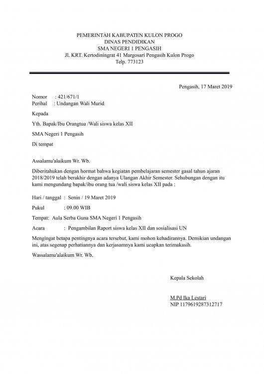 12. Contoh Surat Dinas Sekolah SMP