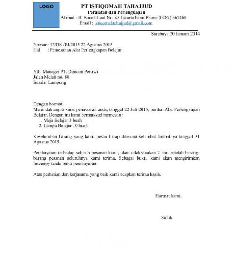 13. Contoh Surat Niaga Penawaran Jasa
