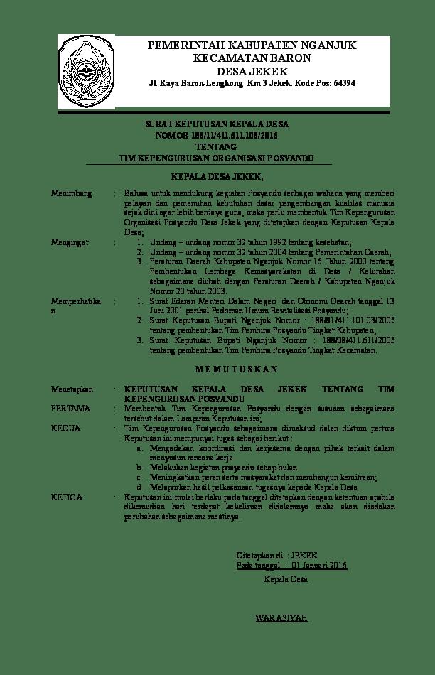 2. Contoh Surat Keputusan Pengangkatan Karyawan Swasta