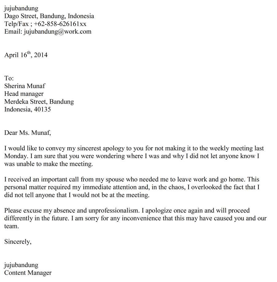 3. Contoh Surat Permohonan Maaf Kepada Guru Dalam Bahasa Inggris Dan Terjemahannya