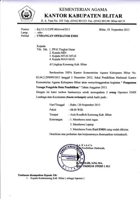 5. Contoh Surat Dinas Resmi Sekolah